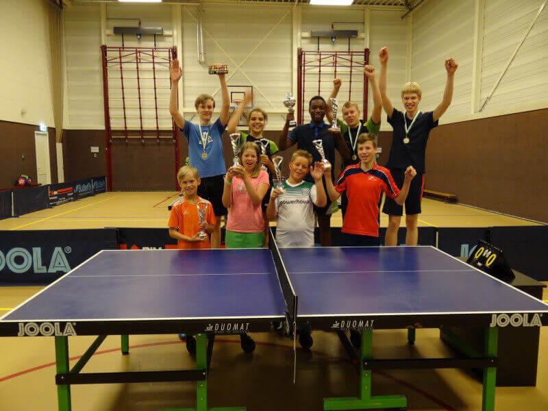 Spannende clubkampioenschappen Tafeltennisvereniging Vries