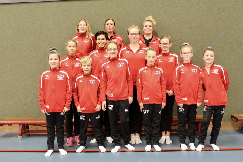 Trampoline team Vako plaatst zich voor NK