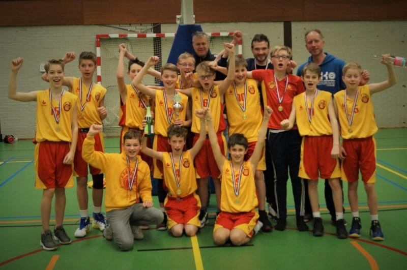 Basketballers Exercitia '73 MU14 ongeslagen kampioen