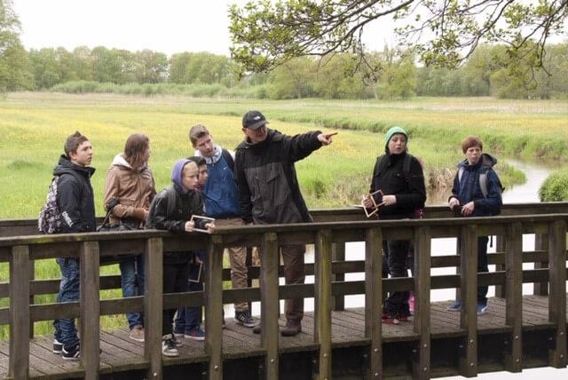 Nationaal Park Drentsche Aa start Junior Ranger groep