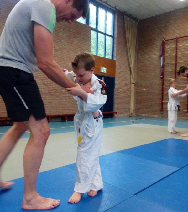 Ouder-kind judo bij Judo Zuidlaren