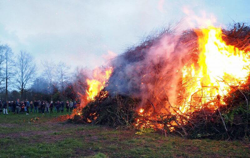 Bunner paasbult moeizaam in brand
