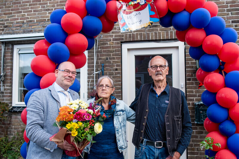 Gerrit en Gretha Hut-Luttmer al zestig jaar een echtpaar