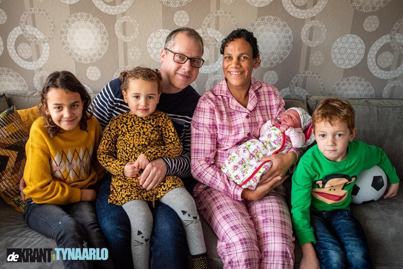 Baby Laurien Coco de eerste van 2020 in gemeente Tynaarlo